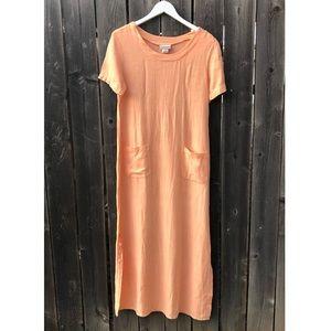 Coldwater Creek linen maxi dress